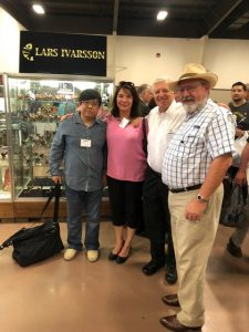 (L-R) Xuhai, Nanna Ivarsson, Rick Newcombe and Texas collector Mitch Michelson.